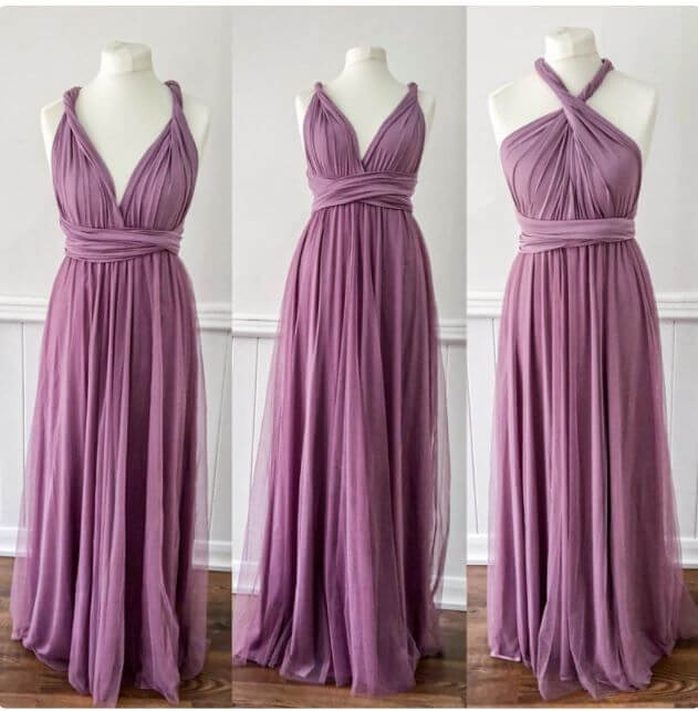 Cadbury Purple Bridesmaid Dresses 3
