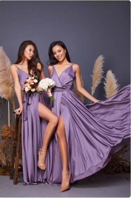 Cadbury Purple Bridesmaid Dresses 9