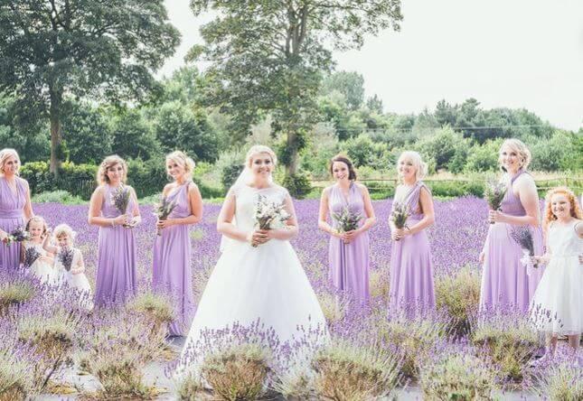 Cadbury Purple Bridesmaid Dresses 5