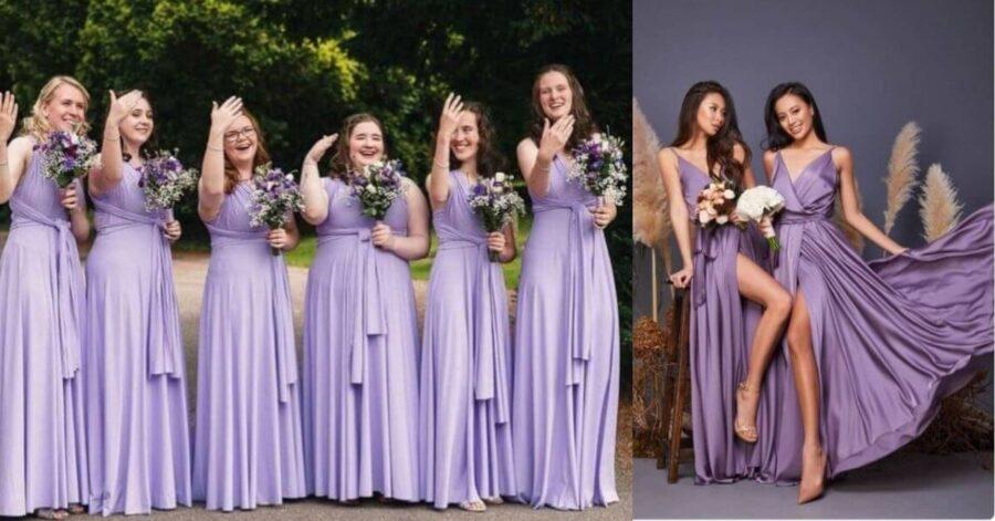 15 Best Cadbury Purple Bridesmaid Dresses To Make Every Size Happy
